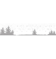 banner with Christmas trees vector image vector image