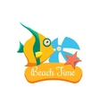 Beach Time Vacation vector image