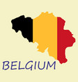 belgium map with shadow effect vector image vector image