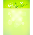 bio concept design eco friendly for summer floral vector image