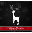 Black Christmas postcard whit christmas deer vector image