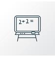 blackboard icon line symbol premium quality vector image