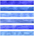 Blue banner background set vector image vector image