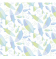 blue river fish seamless pattern vector image vector image