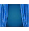 blue theater curtains vector image