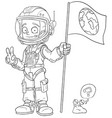 cartoon astronaut in space suit character vector image vector image