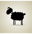 Cartoon silhouette of sheep standing sideways to vector image vector image