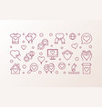 charity and donation outline vector image vector image