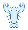 crawfish flat icon crayfish blue icons in trendy vector image