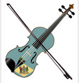 delaware state fiddle vector image vector image