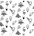 doodle hipster flash tattoo style seamless vector image vector image