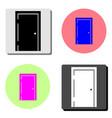door flat icon vector image vector image