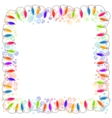 festive blank frame with garland vector image vector image