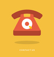 Flat design business concept for customer an vector image