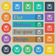 floppy disk icon sign Set of twenty colored flat vector image vector image