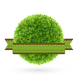 foliage lable2 vector image vector image