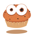 funny muffin vector image