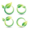 Green labels vector image vector image