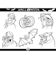 Halloween Cartoon Themes for Coloring vector image vector image
