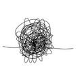 hand drawn tangle scrawl sketchabstract vector image