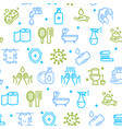 hygiene signs seamless pattern background vector image vector image