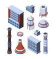 industrial factory building set vector image vector image