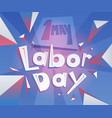 labor-day-lettering vector image