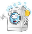 laundry service cartoon with coin vector image vector image
