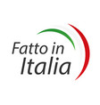 made in italy simple symbol with italian tricolor vector image vector image