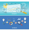 Magnifying Glass Data Analysis vector image