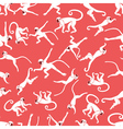 Monkey pink seamless pattern vector image vector image