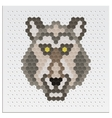 Mosaic Wolf vector image