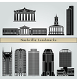 Nashville landmarks and monuments vector image vector image