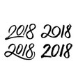 new year 2018 hand drawn numbers set vector image vector image