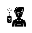 operator with remote controller black vector image