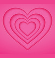 pink heart paper blank background origami and vector image vector image