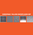 realistic falling snowflakes set isolated on vector image vector image