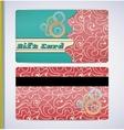 Retro Gift Card vector image vector image