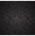 Seamless black floral pattern vector image
