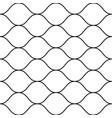 seamless pattern thin wavy lines horizontal mesh vector image vector image