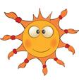 The cheerful sun Cartoon vector image