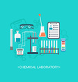 The chemical background banner cover Flat design vector image