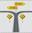 timeline road infographics with signposts vector image vector image