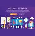 trendy flat gradient color business vector image