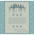Vintage Christmas card made from snowflakes vector image