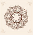 vintage mandala with floral element ornament vector image vector image