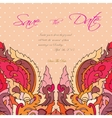 wedding invitation card suite with thai ornament vector image vector image