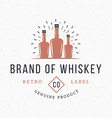Whiskey Bottles Vintage Retro Design Elements for vector image vector image
