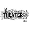 why buy home theater kits text word cloud concept vector image vector image