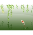 Willow and carp vector image vector image